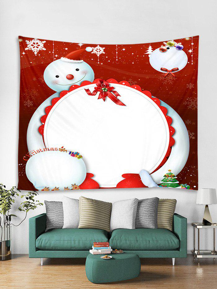 Best Cartoon Snowman Printed Wall Hanging Tapestry