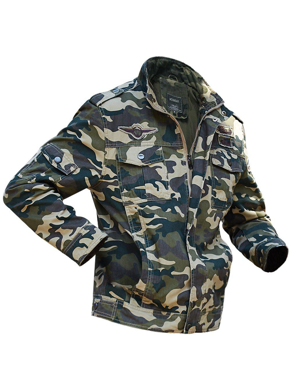 Affordable Appliques Camouflage Printed Jacket