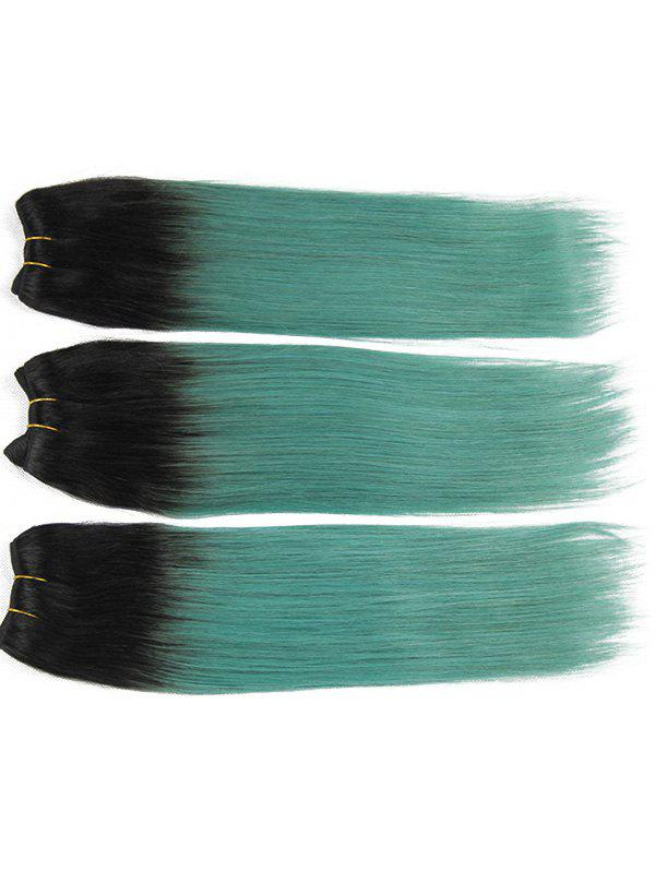 Shop 3Pcs Brazilian Virgin Ombre Straight Human Hair Weaves