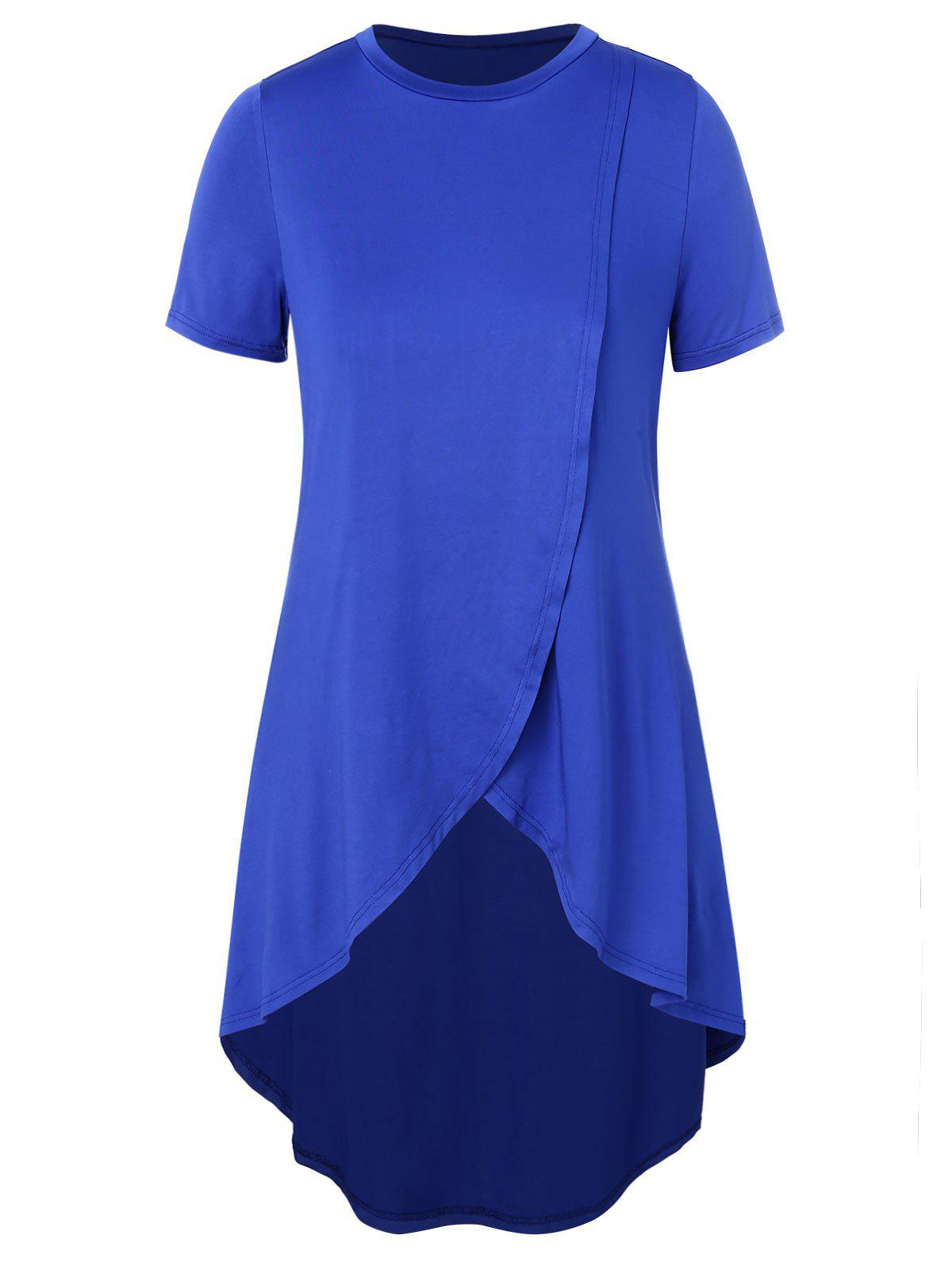 Top taille haute taille basse Bleu 1X