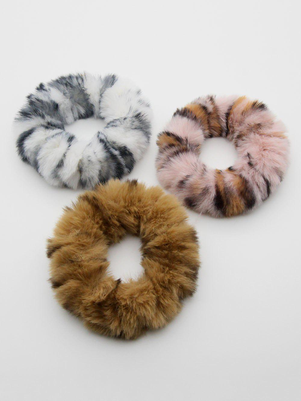 Buy Leopard Print Faux Fur Elastic Hairband