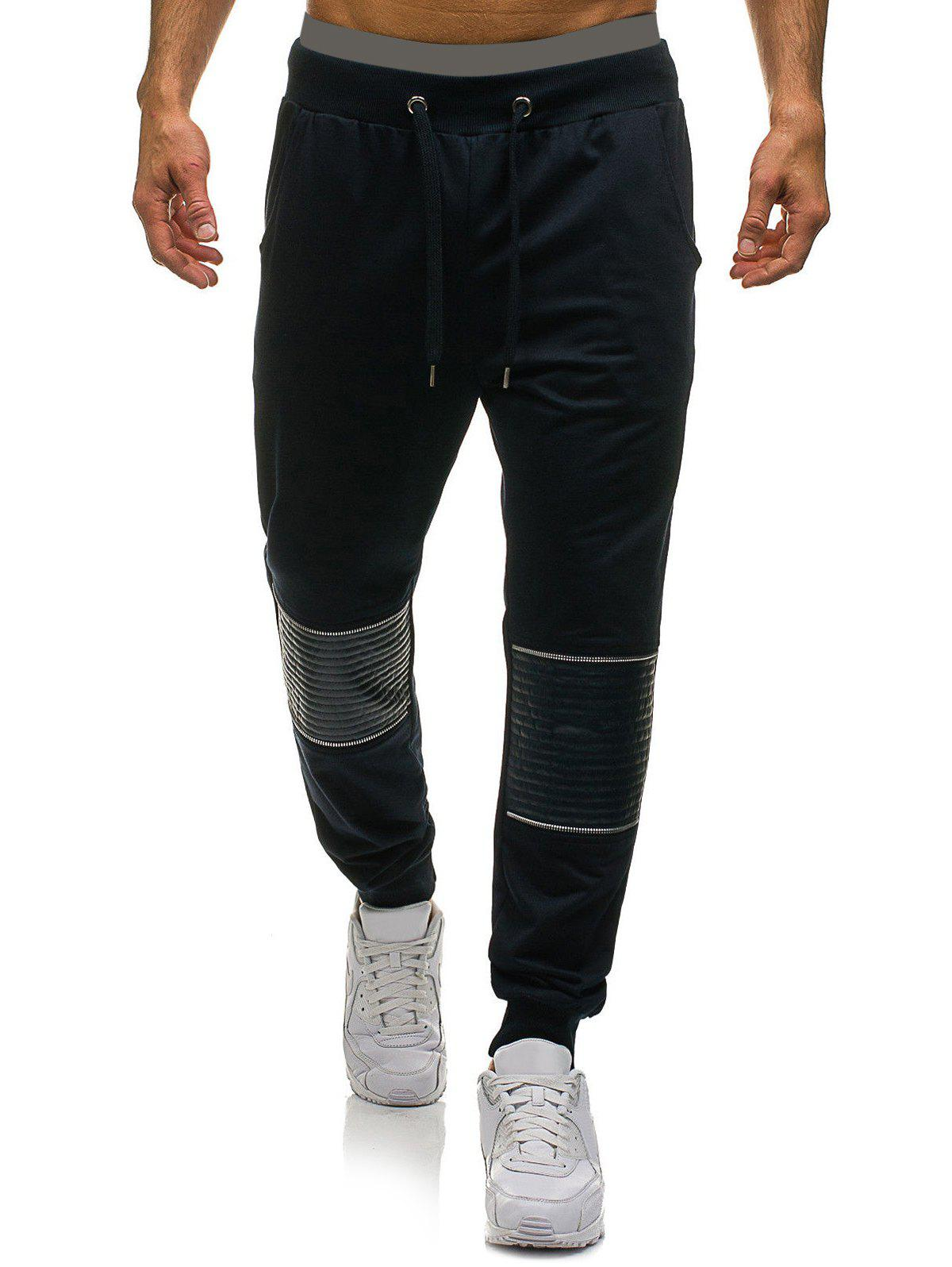 Buy Patchwork Casual Drawstring Jogger Pants