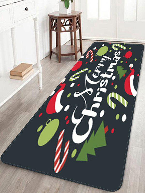 Hot Merry Christmas Tree Candy Cane Printed Floor Mat