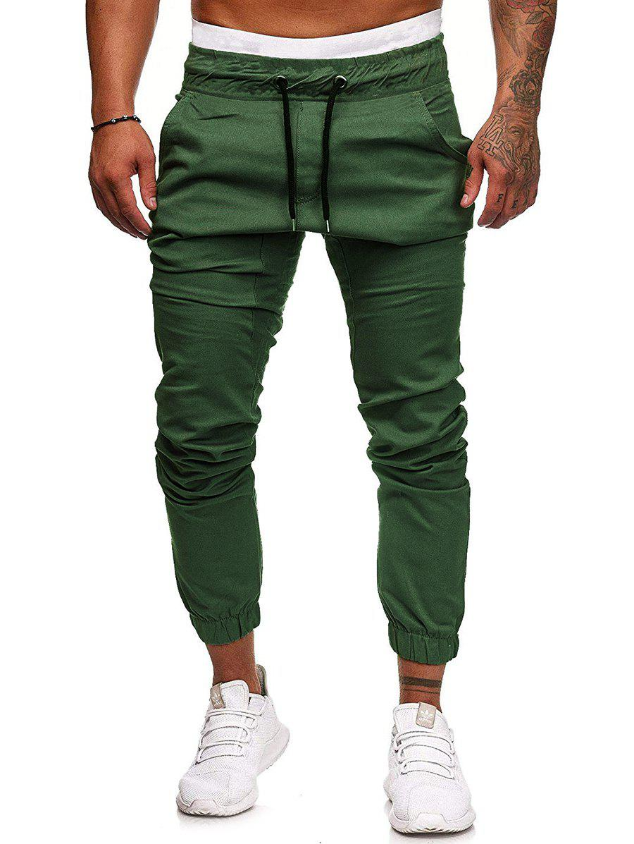 Fashion Elastic Waist Drawstring Jogger Pants