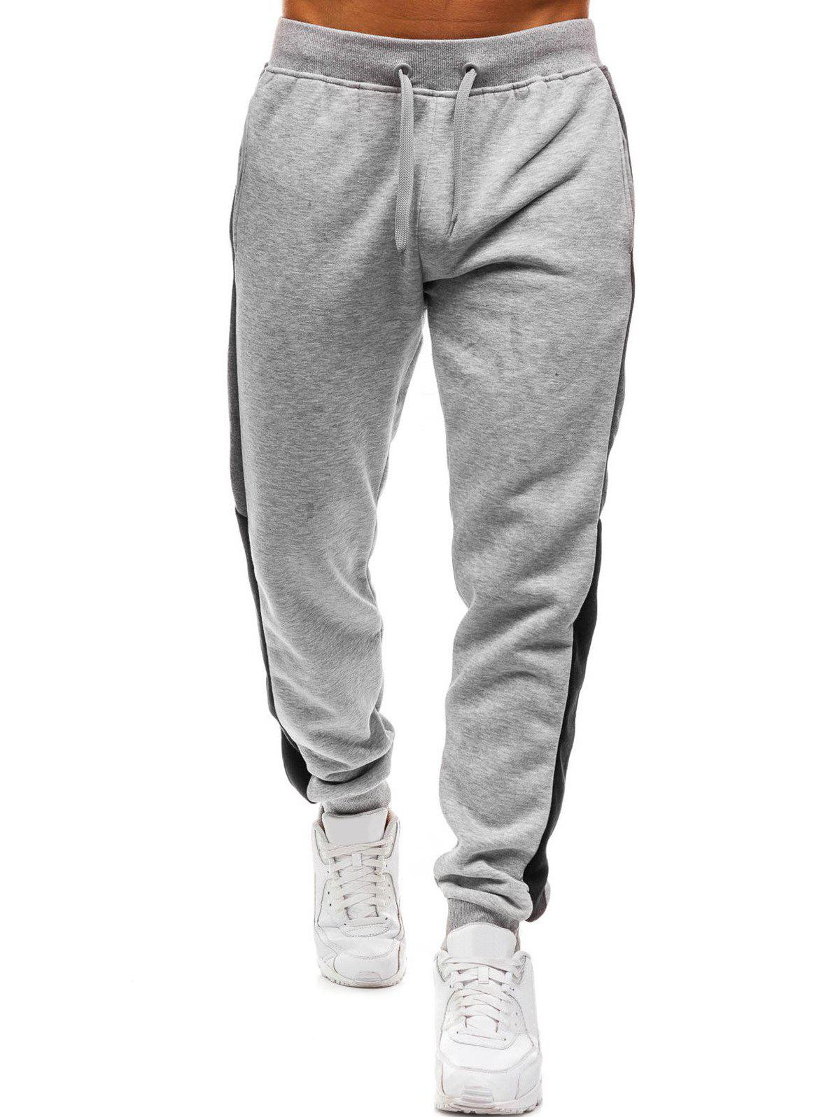 Trendy Long Side Panel Casual Jogger Pants