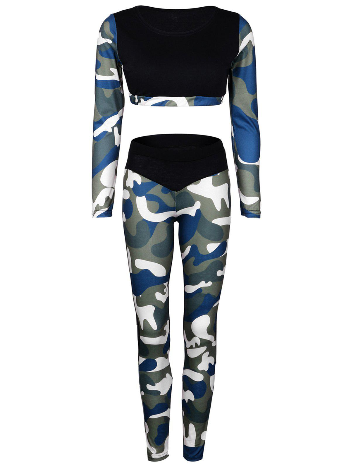 Unique Camo Panel Sports Suit