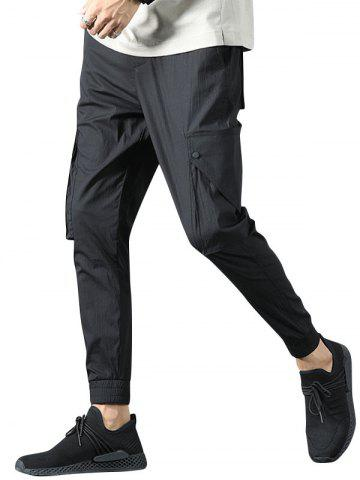 Casual Multi Pockets Beam Feet Pants