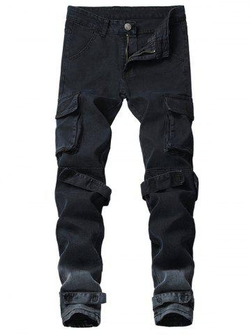 Casual Stripe Multi Pockets Ombre Cargo Pants