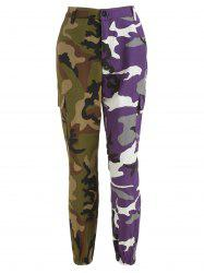 Camo Patchwork Zip Fly Pants -