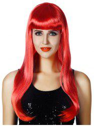 Full Bang Long Straight Party Cosplay Synthetic Wig -