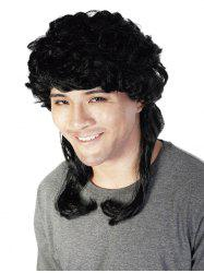 Medium Side Bang Layered Curly Men Synthetic Wig -