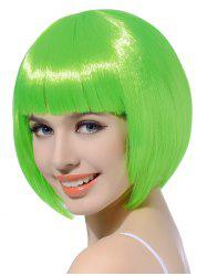 Neat Bang Short Straight Bob Cosplay Party Synthetic Wig -