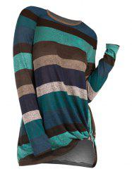 Striped Twist Front Knitwear -