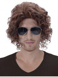 Short Side Bang Shaggy Curly Synthetic Men Wig -