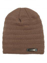 Winter Outdoor Thick Label Knitted Beanie -