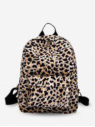 Leopard Design Zipper School Backpack -
