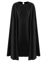 Midi Bodycon Cape Dress -