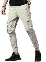 Casual Multi Pockets Beam Feet Pants -