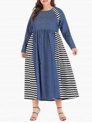 Plus Size Tea Length A Line Dress -