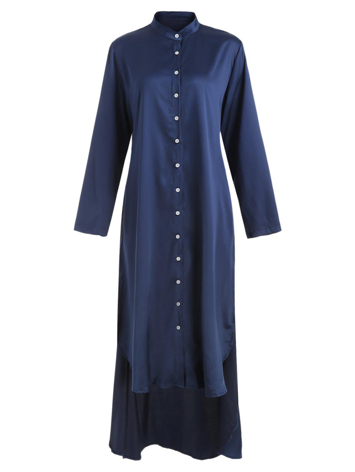 Outfit High Low Hem Button Up Dress
