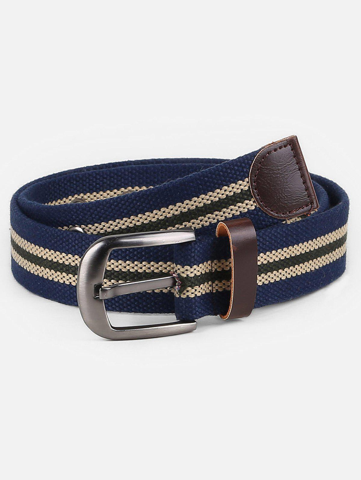 New Outdoor Canvas Striped Pattern Belt