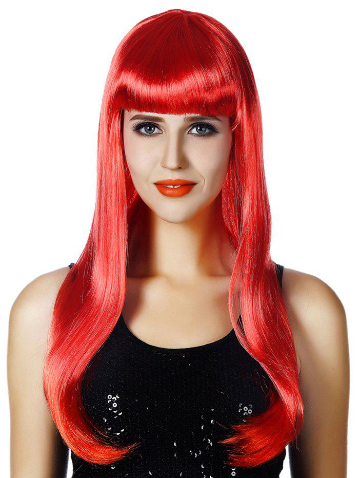 Outfit Full Bang Long Straight Party Cosplay Synthetic Wig