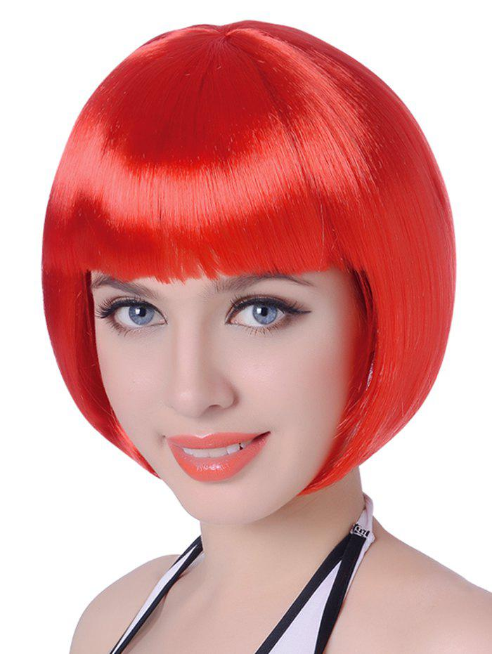 Store Neat Bang Short Straight Bob Cosplay Party Synthetic Wig