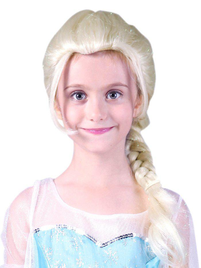 Discount Medium Braids Party Cosplay Synthetic Wig for Kids