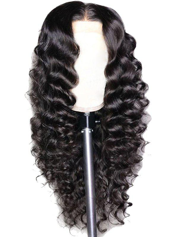 New Long Middle Part Loose Wave Synthetic Lace Front Wig