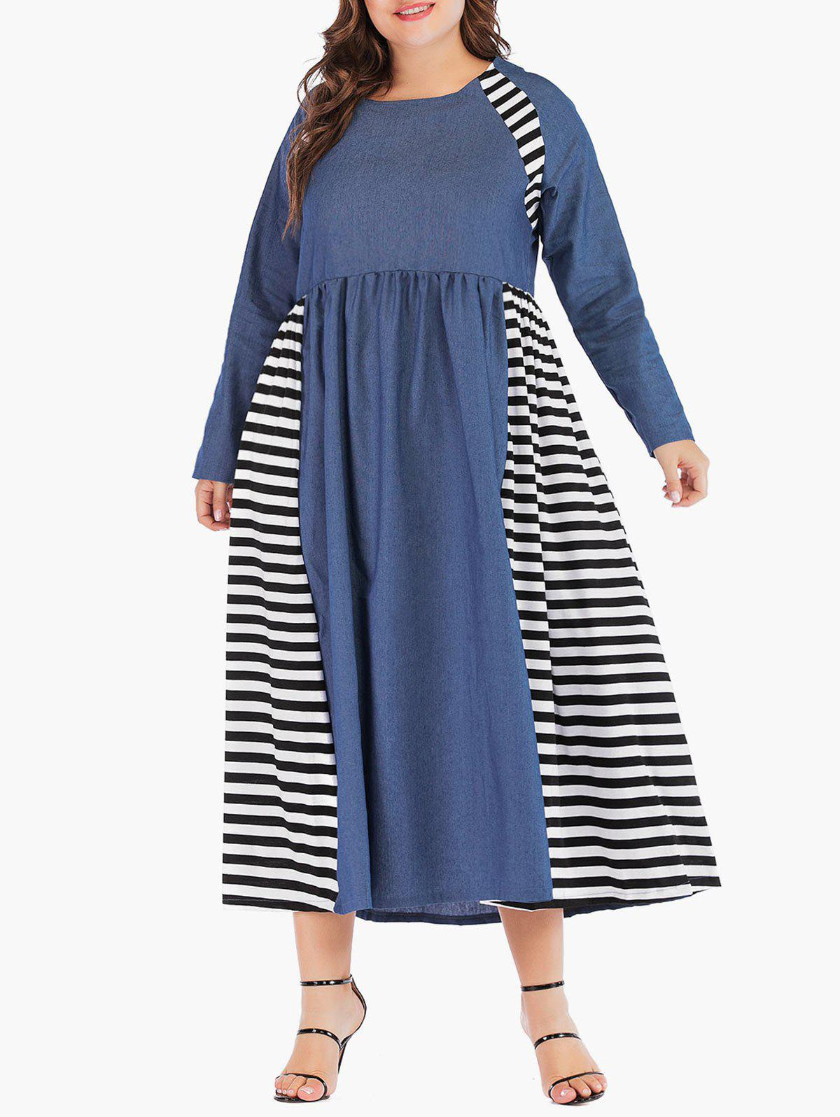 Unique Plus Size Tea Length A Line Dress