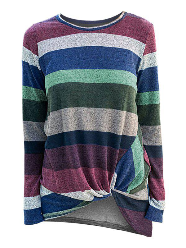 Shops Striped Twist Front Knitwear