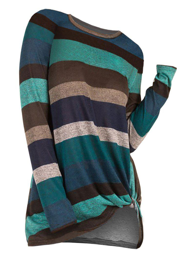 Online Striped Twist Front Knitwear