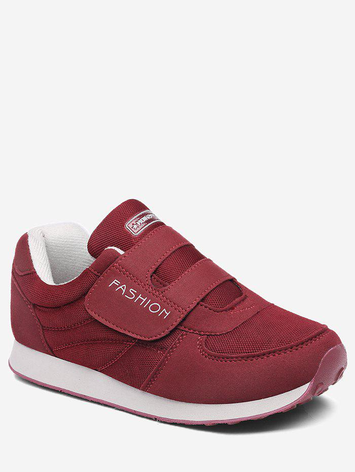 Fancy Hook Loop Low Top Walking Sneakers