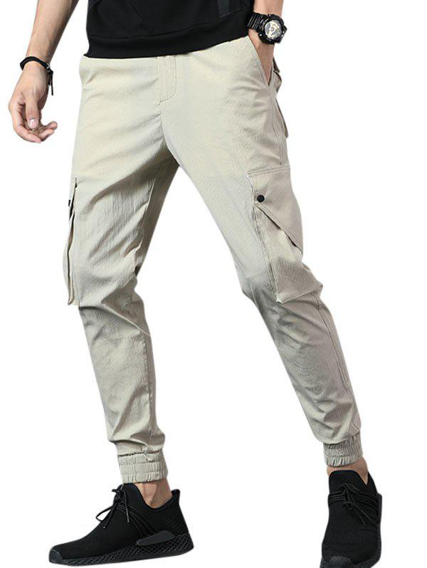 Hot Casual Multi Pockets Beam Feet Pants