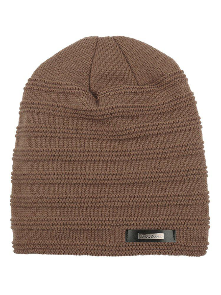 Unique Winter Outdoor Thick Label Knitted Beanie