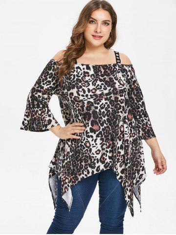 c47963f6 Plus Size Leopard Print Tops - Long Sleeve, Lace And Floral Cheap ...