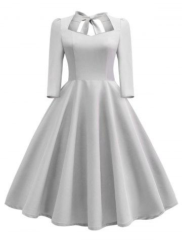Gray Vintage Cocktail Dresses