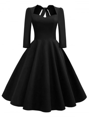 Vintage Bow Tie Swing Dress