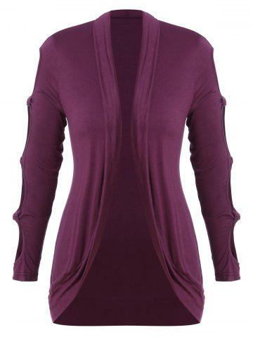 Plus Size Knotted Cutout Outerwear
