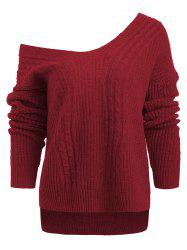 Drop Shoulder Hemp Flower Sweater -