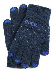 Polka Dot Slip-on Knit Gloves -