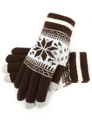 Snowflake Jacquard Knit Gloves -