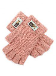 Fingerless Knit Gloves -