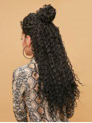 Long Side Bang Fluffy Kinky Curly Synthetic Lace Front Wig -