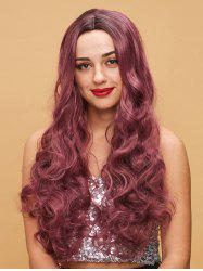 Long Colormix Middle Part Body Wave Cosplay Synthetic Wig -