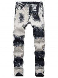 Paint Splatter Faded Jeans -