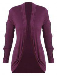 Plus Size Knotted Cutout Outerwear -