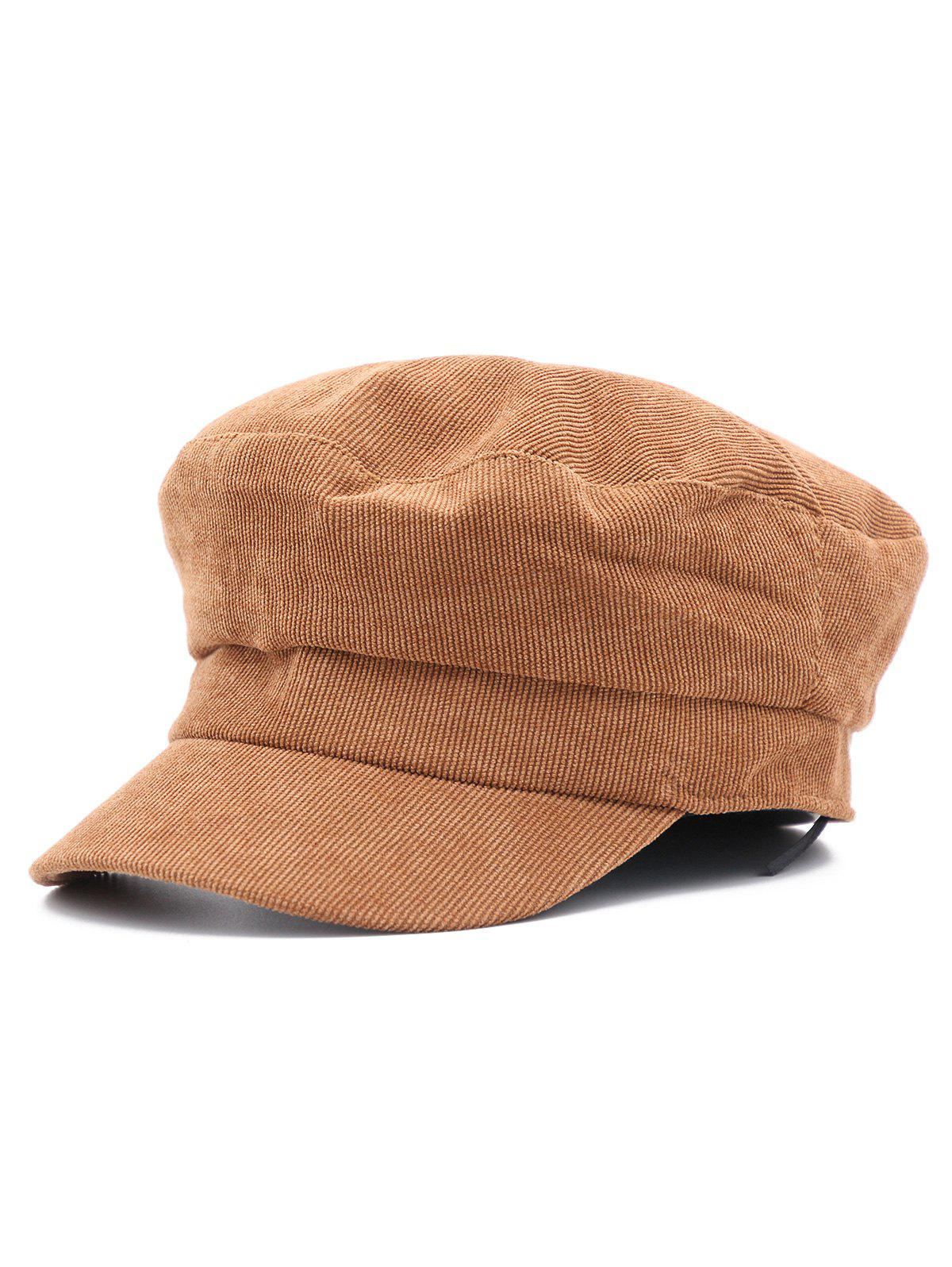 Vintage Solid Color Corduroy Newsboy Cap