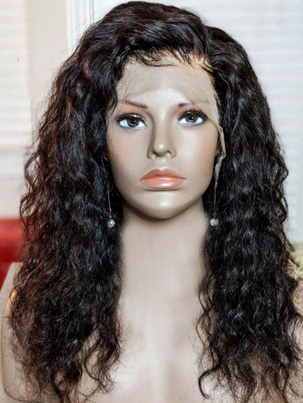 Latest Medium Side Bang Water Wave Synthetic Lace Front Wig