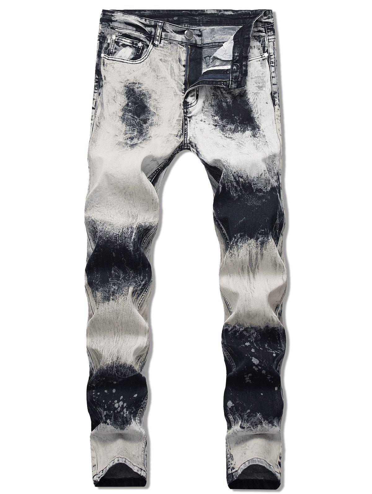 New Paint Splatter Faded Jeans
